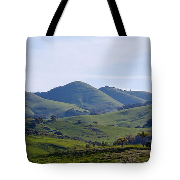 High Angle View Of A Valley, Edna Tote Bag