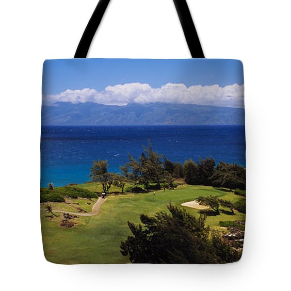 High Angle View Of The Bay Course Tote Bag
