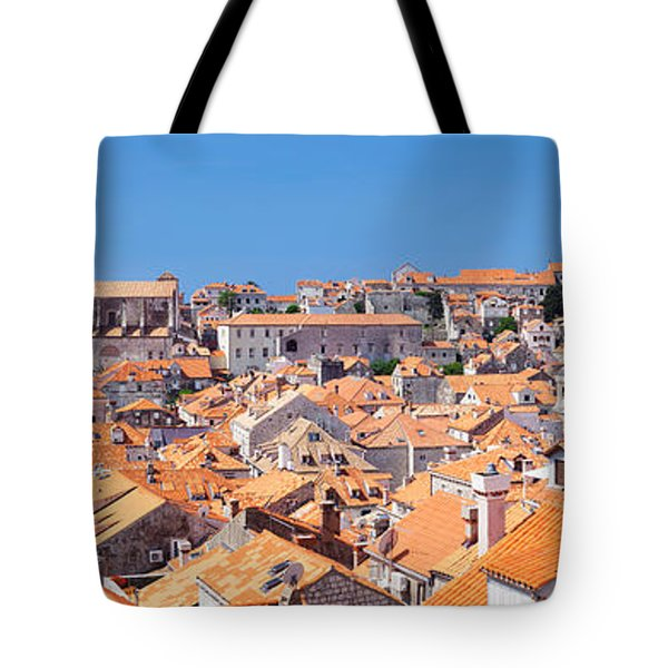 High Angle View Of The Old Town Tote Bag