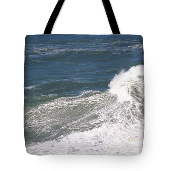 High Angle View Of Waves In The Sea Tote Bag