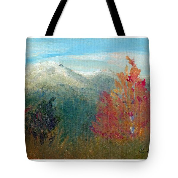 High Country View Tote Bag