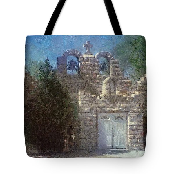 Tote Bag featuring the painting High Desert Church by Jeffrey Kolker