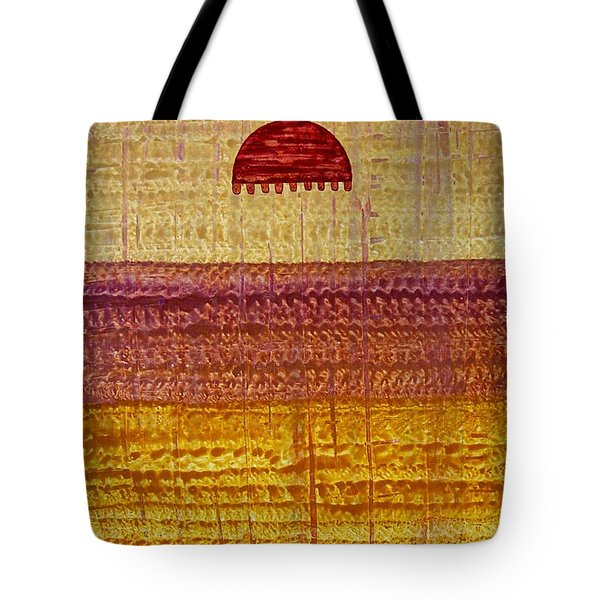 High Desert Horizon Original Painting Tote Bag by Sol Luckman