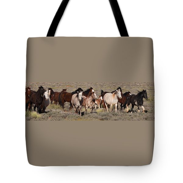 High Desert Horses Tote Bag by Diane Bohna