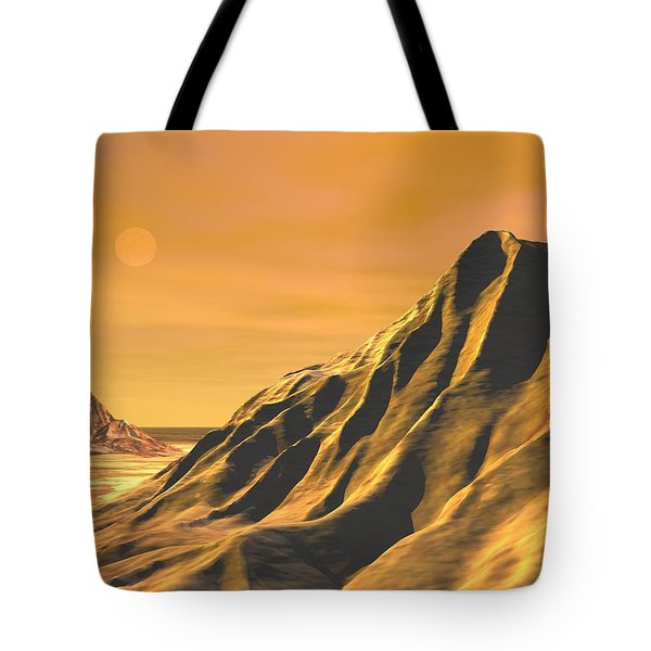 Tote Bag featuring the digital art High Desert by John Pangia