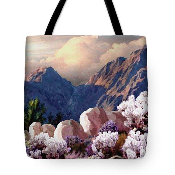 High Desert Sunrise Tote Bag by Ron Chambers