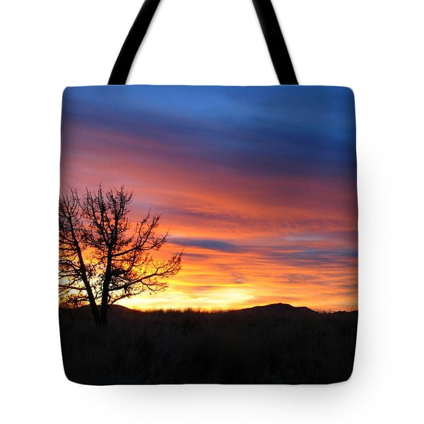 Tote Bag featuring the photograph High Desert Sunset by Kevin Desrosiers