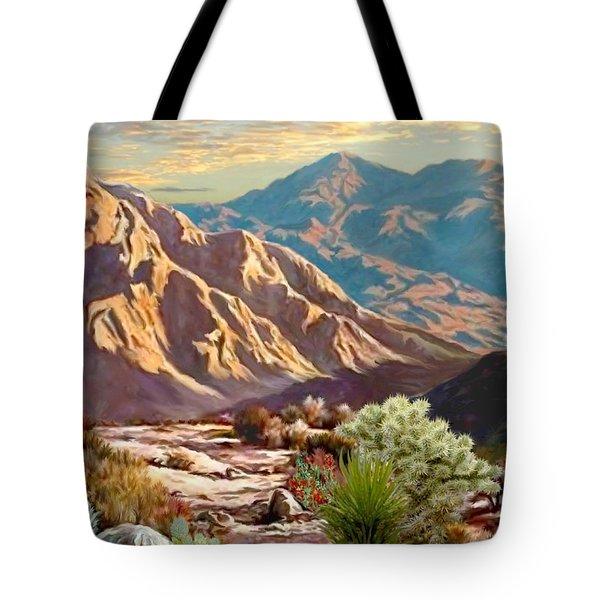 High Desert Wash Portrait Tote Bag
