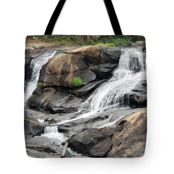 Tote Bag featuring the photograph High Falls by Aaron Martens