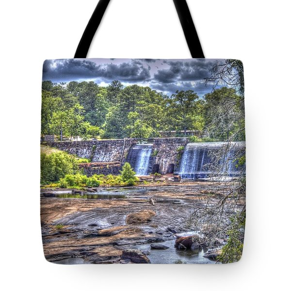 High Falls Dam Tote Bag