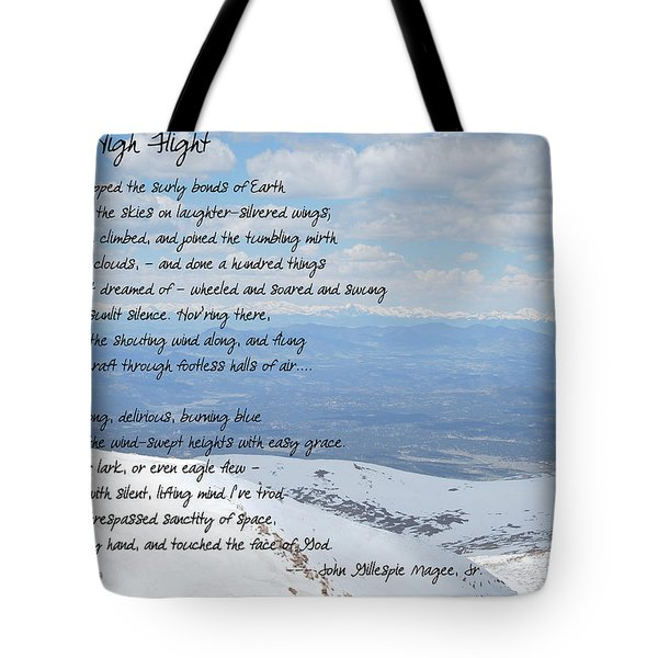 High Flight Tote Bag by Paulette B Wright
