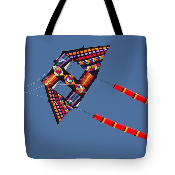 High Flying Kite Tote Bag by Art Block Collections