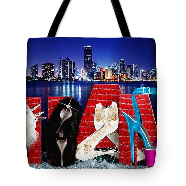 High Heels Miami Tote Bag