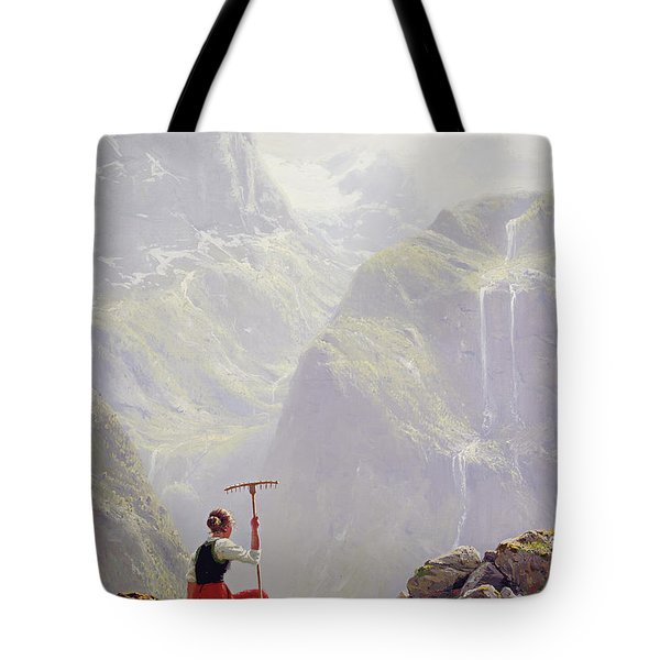 High In The Mountains Tote Bag