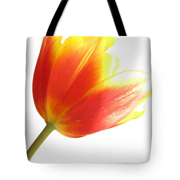 High-key Tulip Tote Bag