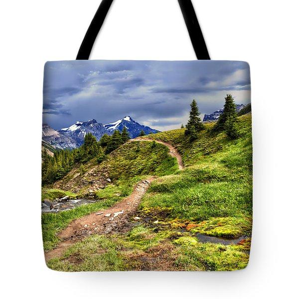 High Mountain Trail Tote Bag