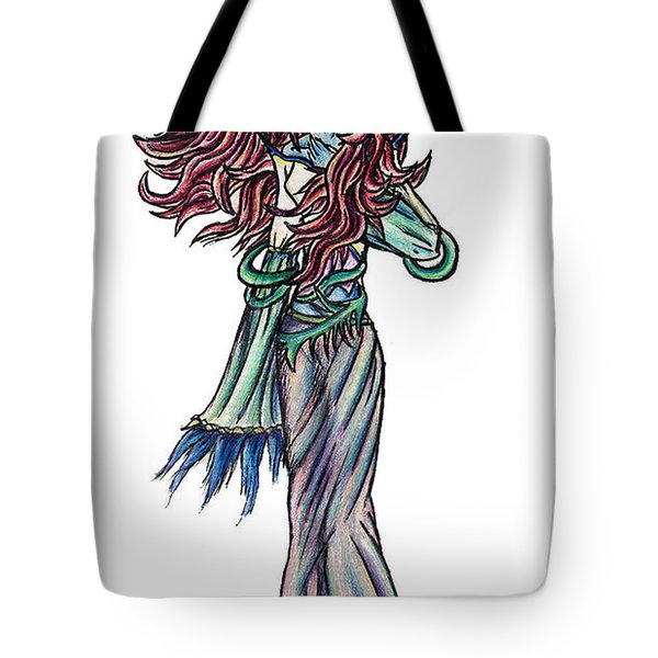 Tote Bag featuring the painting High Ogre Elessidia by Shawn Dall