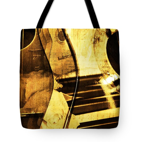 High On Music Tote Bag by Randi Grace Nilsberg