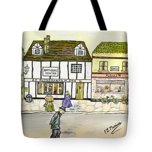 Tote Bag featuring the painting High Street by Loredana Messina