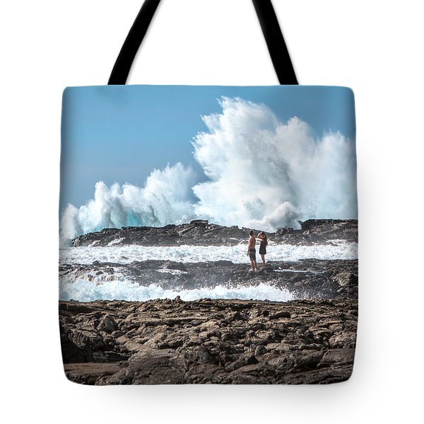 In Over Their Heads Tote Bag by Denise Bird