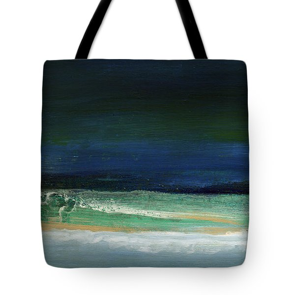 High Tide- Abstract Beachscape Painting Tote Bag