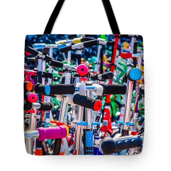 High Time To Buy A Scooter 1 Horizontal Tote Bag by Alexander Senin