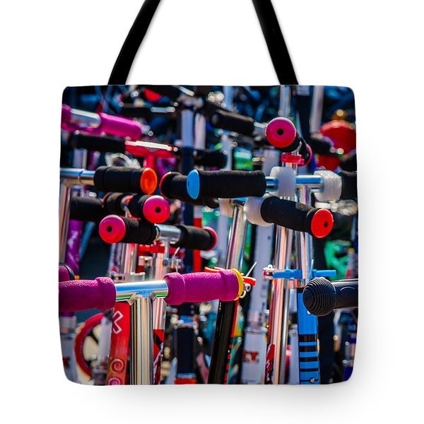 High Time To Buy A Scooter 1 Vertical Tote Bag by Alexander Senin