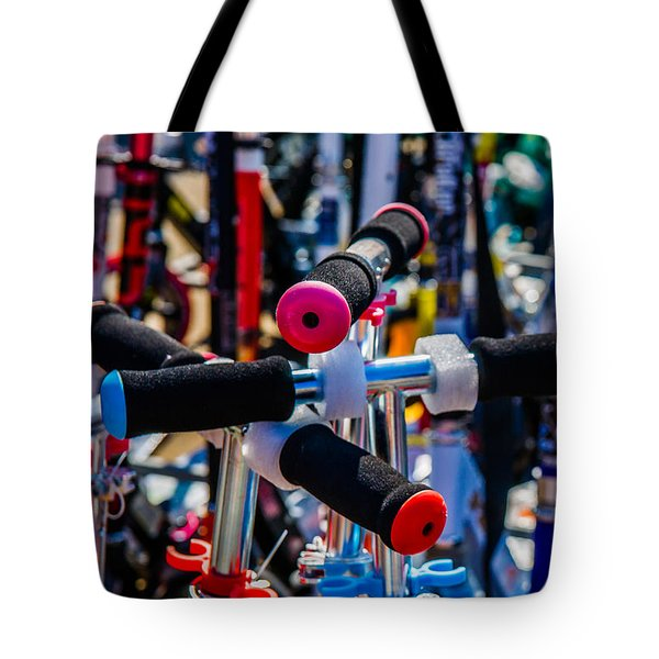 High Time To Buy A Scooter 2 Vertical Tote Bag by Alexander Senin