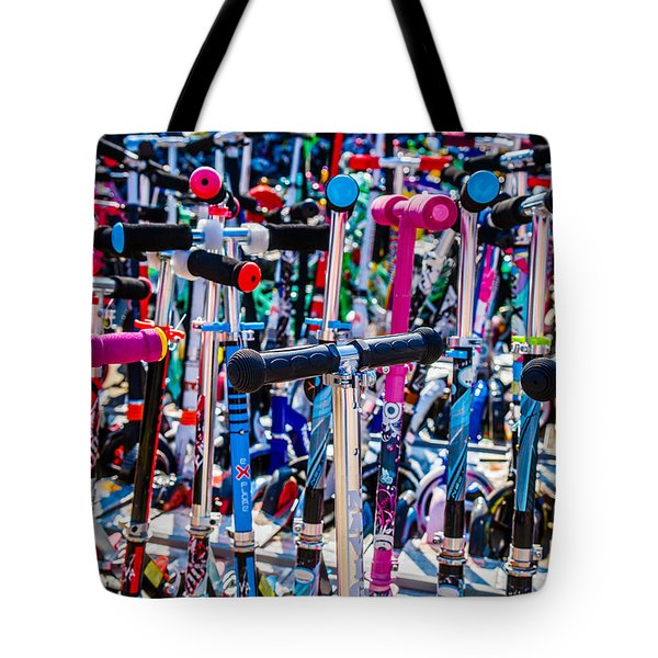 High Time To Buy A Scooter 3 Horizontal Tote Bag by Alexander Senin