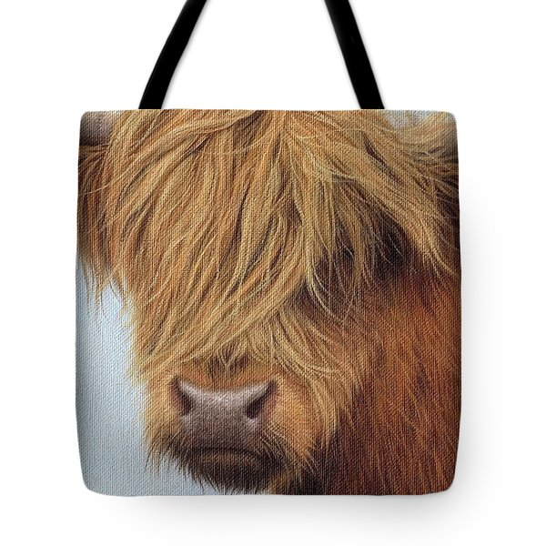 Highland Cow Painting Tote Bag
