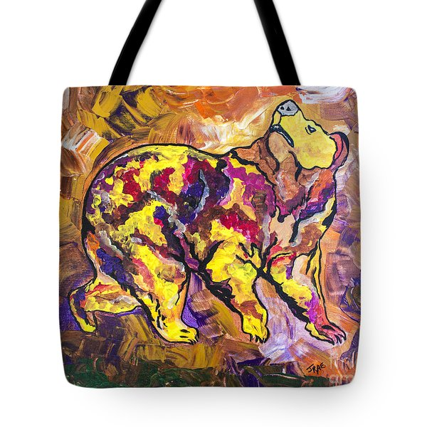 Tote Bag featuring the painting Highland's North Carolina Bear by Janice Rae Pariza