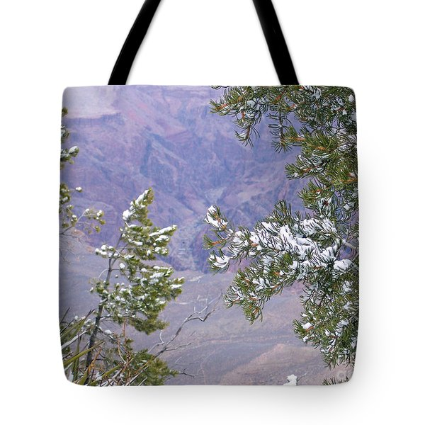 Tote Bag featuring the photograph Highlighting Snow by Roberta Byram