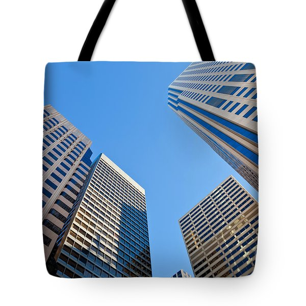 Tote Bag featuring the photograph Highrises by Jonathan Nguyen