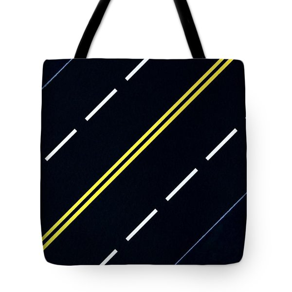 Tote Bag featuring the painting Highway by Thomas Gronowski