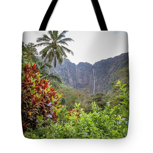 Hiilawe And Hakalaoa Falls Tote Bag