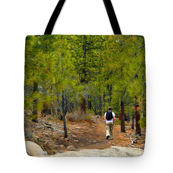 Hike On 2 Tote Bag by Brent Dolliver