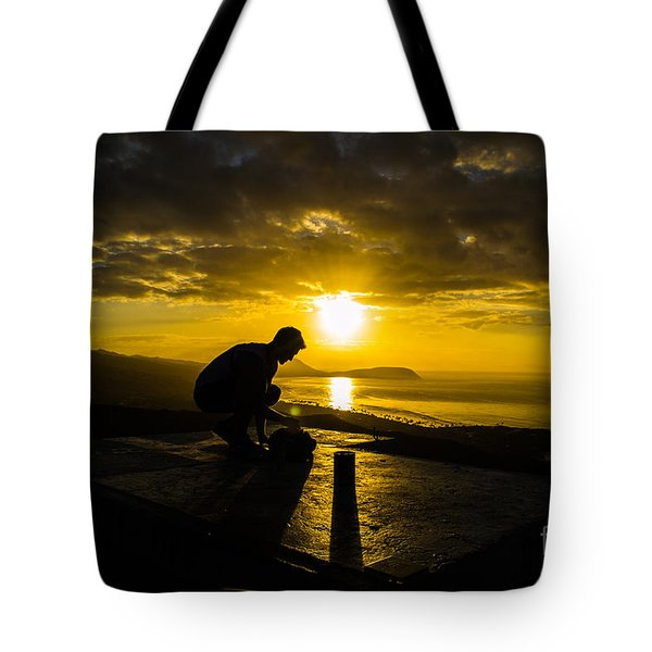 Hiker @ Diamondhead Tote Bag