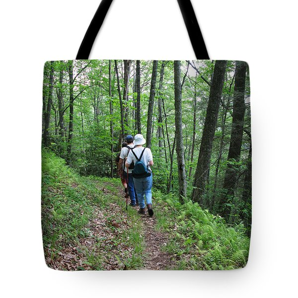 Hiking Group Tote Bag by Melinda Fawver
