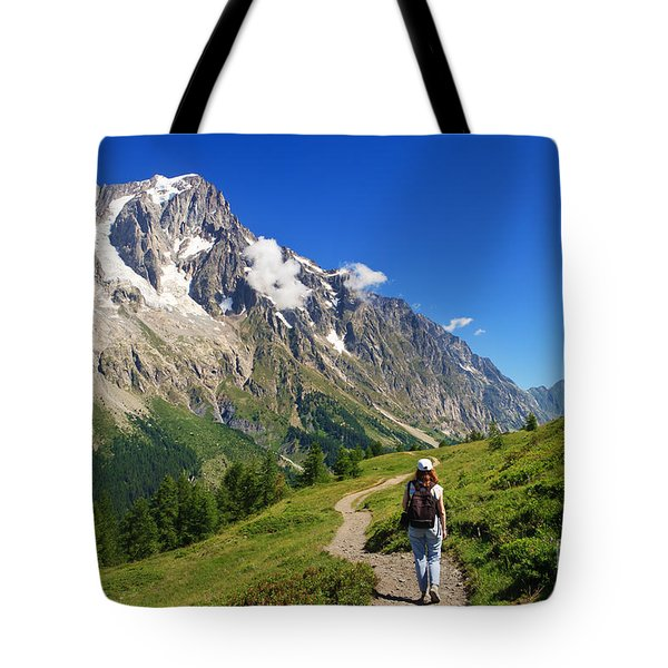 Tote Bag featuring the photograph hiking in Ferret Valley by Antonio Scarpi