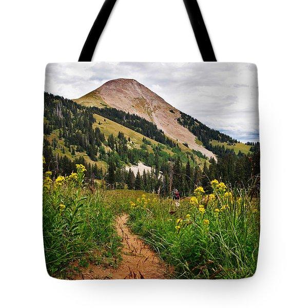 Hiking In La Sal Tote Bag by Adam Romanowicz