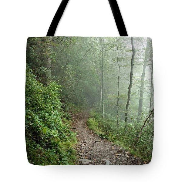 Hiking In The Clouds Tote Bag