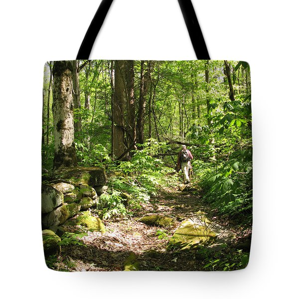 Hiking Off Trail Tote Bag by Melinda Fawver