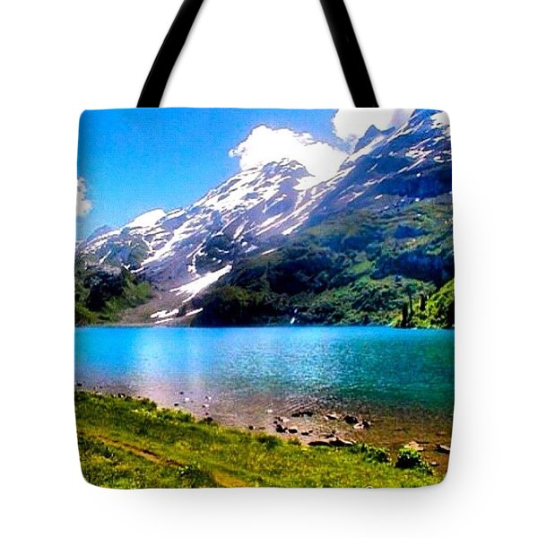 Hiking Switzerland Tote Bag by Anna Porter