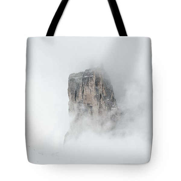 Hiking The Tre Cime In Winter Tote Bag