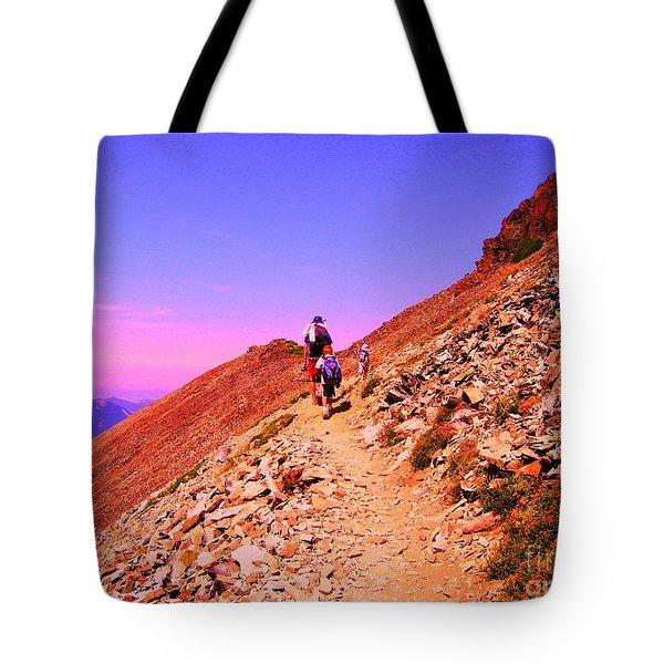 Hiking To Paradise Tote Bag