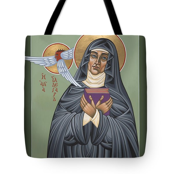 Tote Bag featuring the painting St. Hildegard Of Bingen 171 by William Hart McNichols