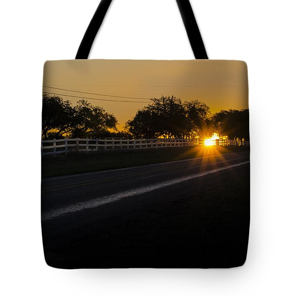 Hill Country Sunrise 2 Tote Bag