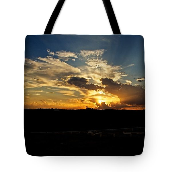 Hill Country Sunset Tote Bag