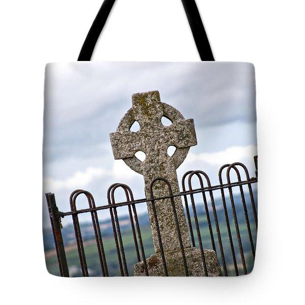 Hill Of Tara Celtic Cross Tote Bag