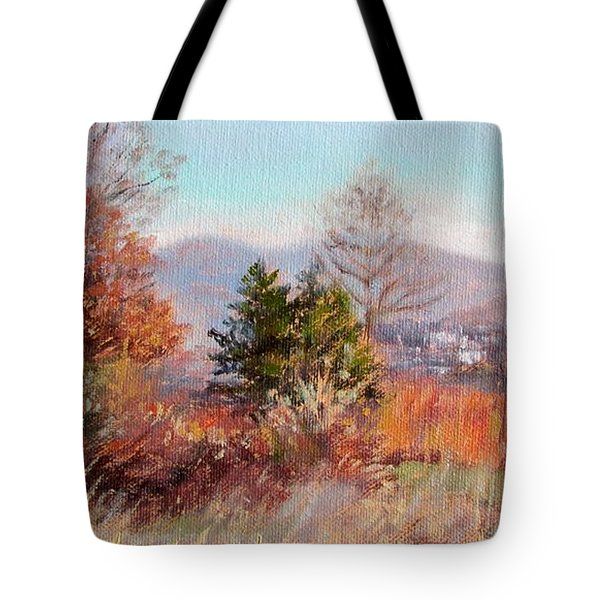 Hill Top View- In Autumn Tote Bag